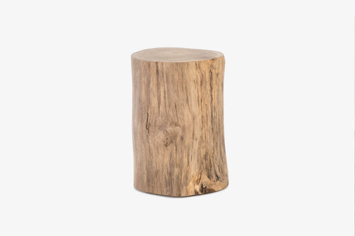 East Java Teak Log Side Table/Stool