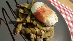 Grilled tomino with green beans