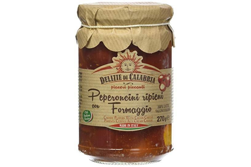 Peperoncini ripieni con formaggio / Stuffed hot cherry peppers - 270 gr