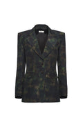 Dark Camo Tailored Blazer (Made to Order)