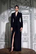Tailored Wool Tuxedo Gown (Pre-Order)