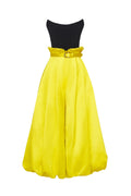 Strapless Combo Jumpsuit with Pleated Pant (Pre-Order)