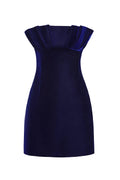 Strapless Pleated Velvet Mini Dress (Pre-Order)