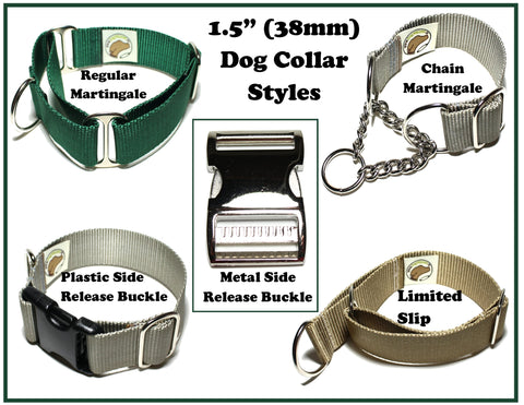 "1.5"" (38mm) dog collar types"