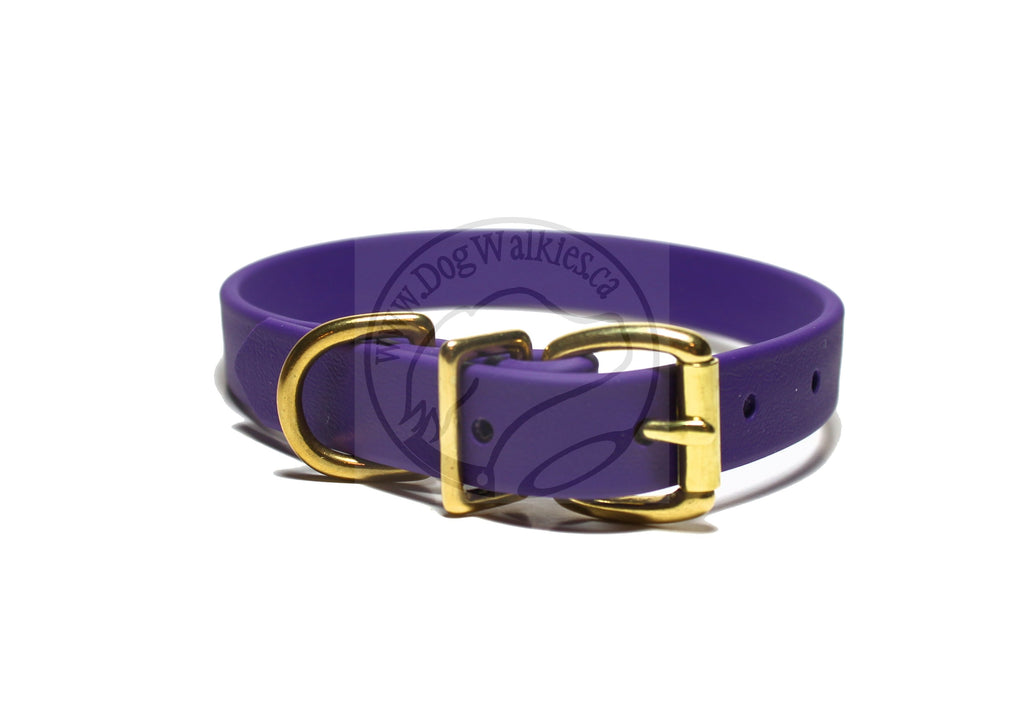 "Royal Purple Biothane Dog Collar - 3/4"" (19mm) wide"