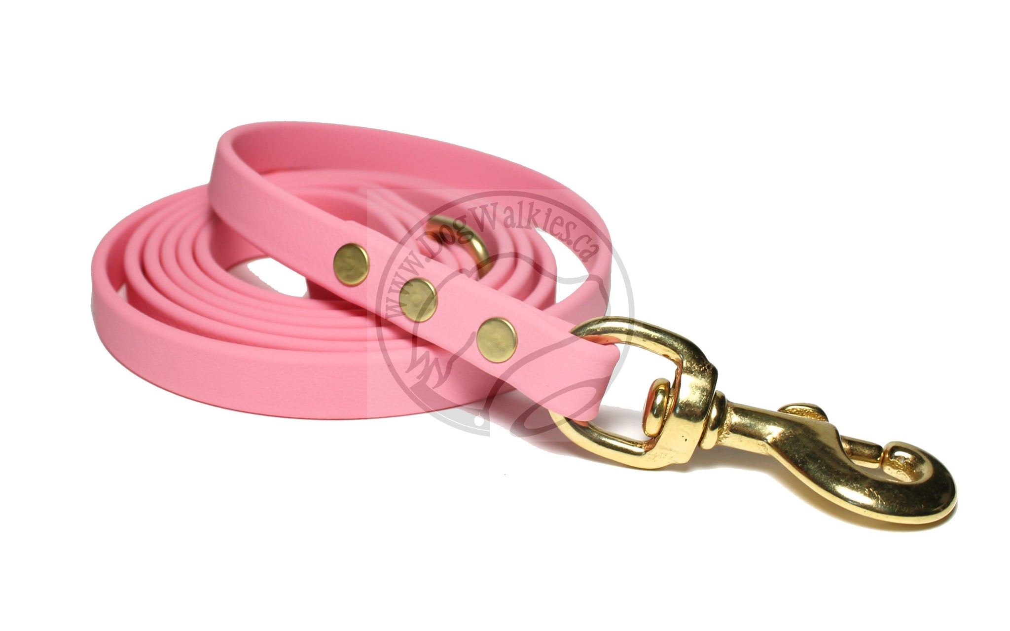 Bubblegum Pink Biothane Dog Leash