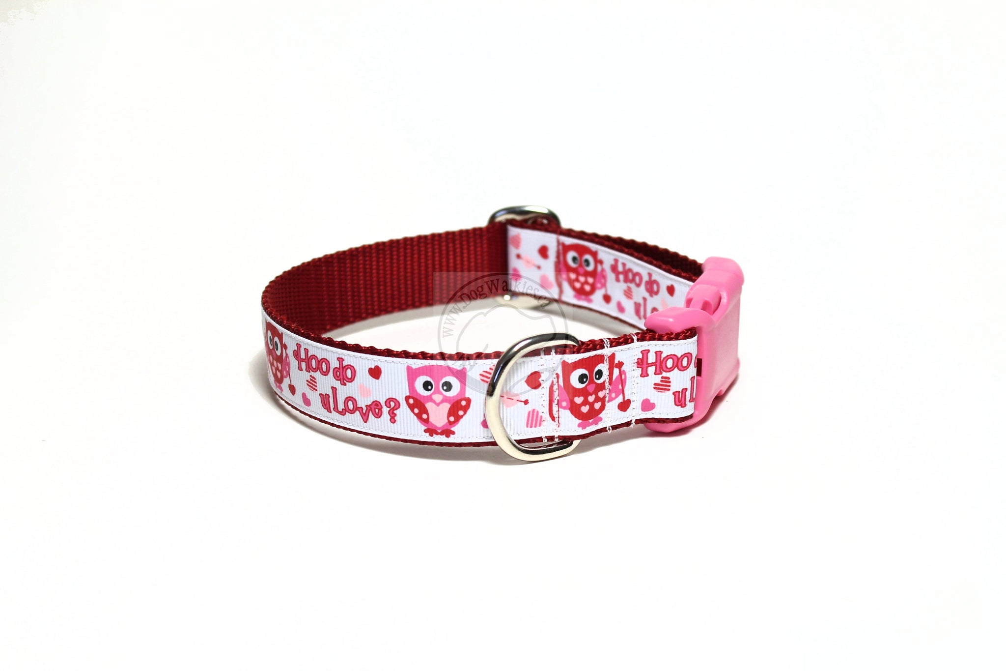 Who do you love? - Valentine nylon dog collar