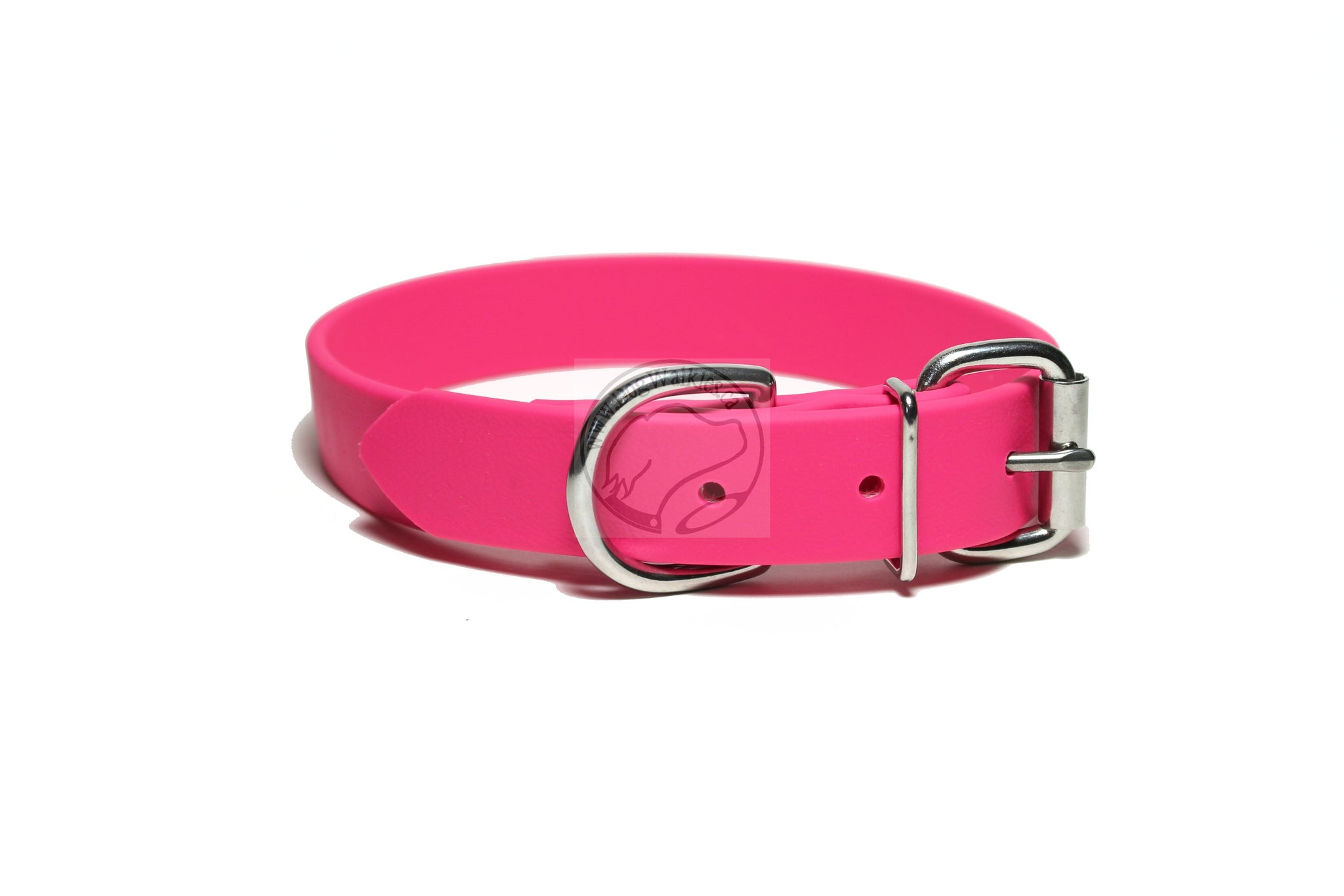 Fuchsia Pink Biothane Dog Collar - 1 inch (25mm) wide