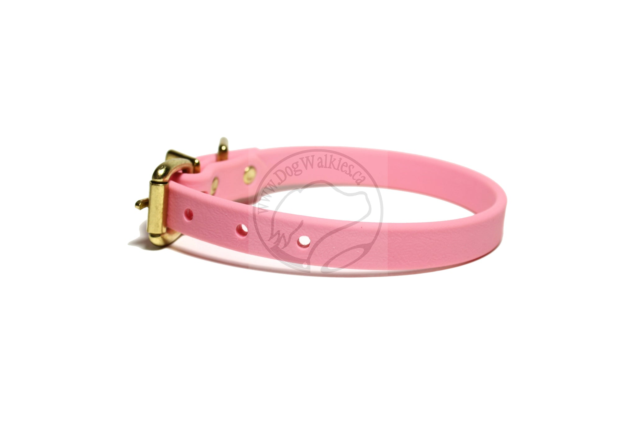 "Bubblegum Pink Biothane Dog Collar - 5/8""(16mm) wide"