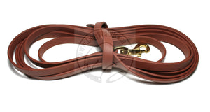 "Thicker Biothane 5/8"" (16mm) Tracking Recall Long Line - waterproof leash for larger dogs or stronger pullers"