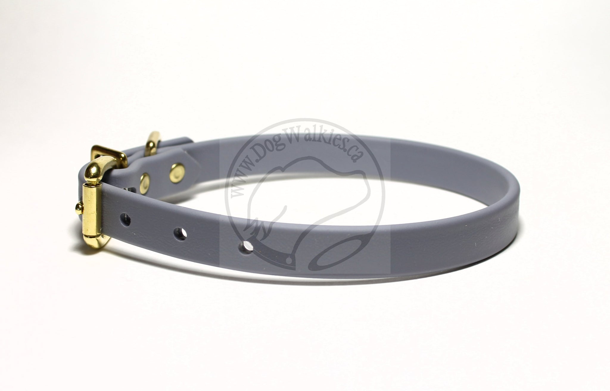 "Stormy Grey Biothane Dog Collar - 5/8""(16mm) wide"