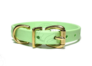 "Pastel Mint Green Biothane Dog Collar - 5/8""(16mm) wide"