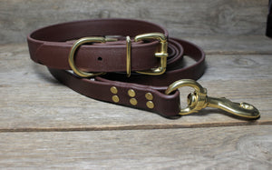 Dark Chocolate Brown Biothane Large Dog Leash