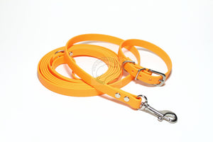 Bright Pumpkin Orange Biothane Small Dog Leash
