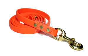 Neon Blaze Orange Biothane Dog Leash