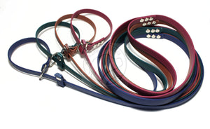 "English Slip Lead - Stainless Steel - Waterproof Leash in Genuine Biothane - 12mm (1/2"") width"