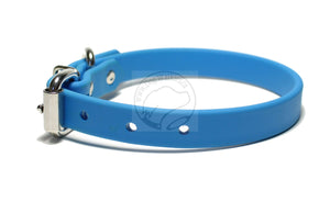 "Caribbean Blue Biothane Dog Collar - 3/4"" (19mm) wide"