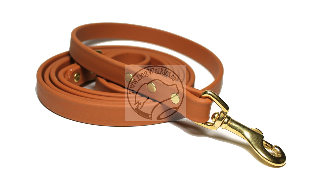 Caramel Brown Biothane Dog Leash