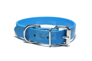 Caribbean Blue Biothane Dog Collar - 1 inch (25mm) wide