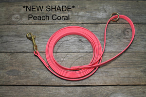Peach Coral Waterproof Tracking Recall Long Line