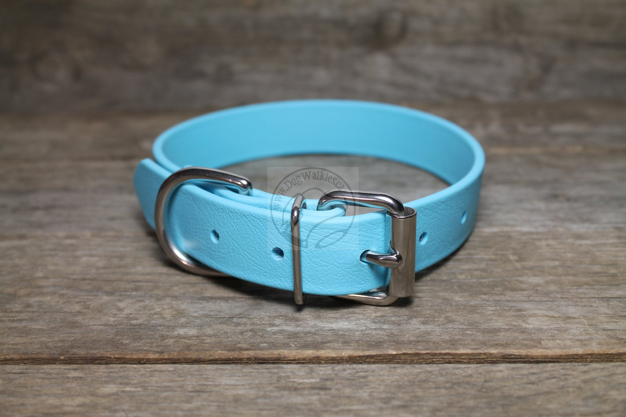 *NEW COLOUR* Frozen Blue Biothane Dog Collar - 1 inch (25mm) wide