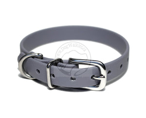 "Stormy Gray Biothane Small Dog Collar - 1/2"" (12mm) wide"