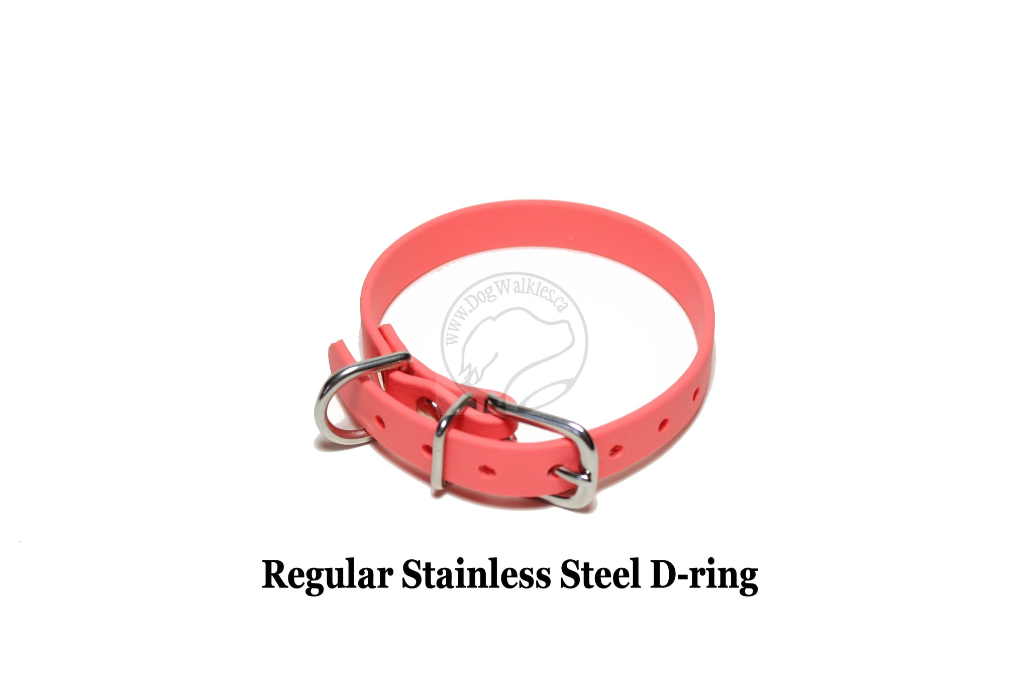"*NEW* Peach Coral Biothane Small Dog Collar - 1/2"" (12mm) wide"