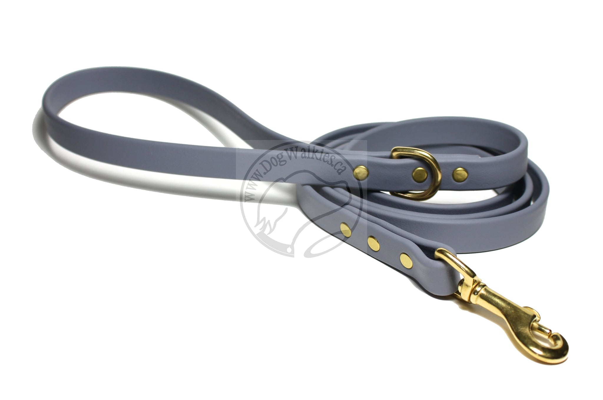 Stormy Gray Biothane Dog Leash
