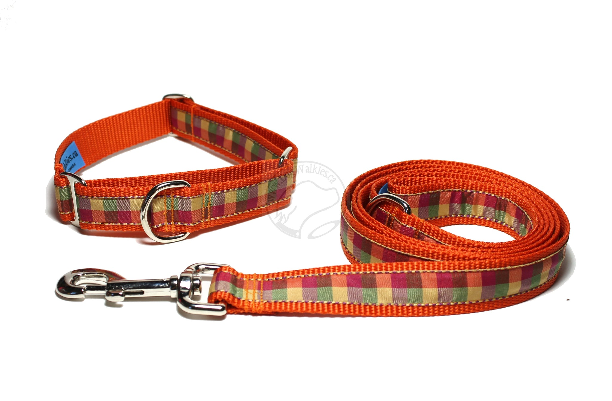 Fall Plaid - tartan dog collar