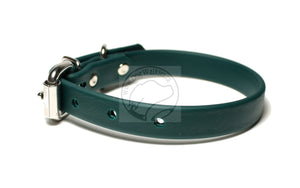"Pine Green Biothane Dog Collar - 5/8""(16mm) wide"