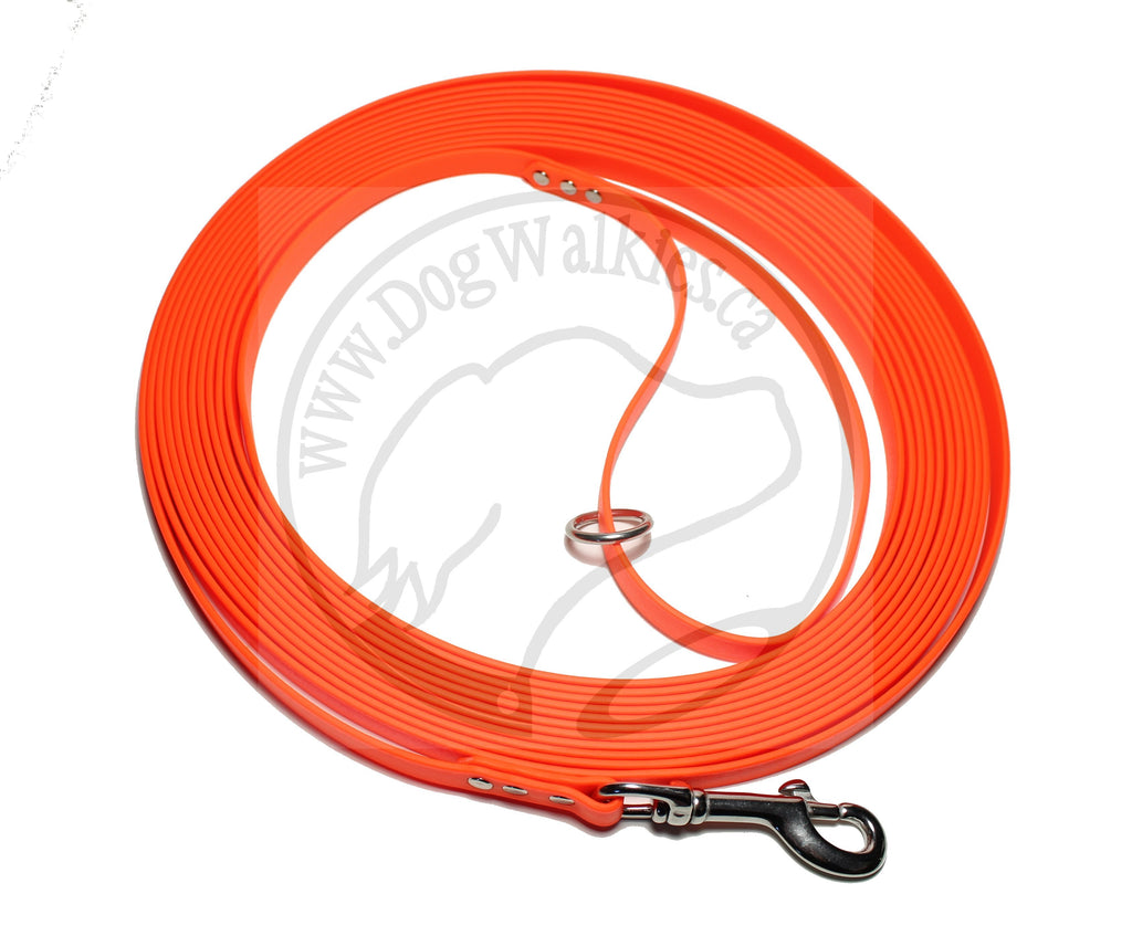Neon Blaze Orange Waterproof Tracking Recall Long Line