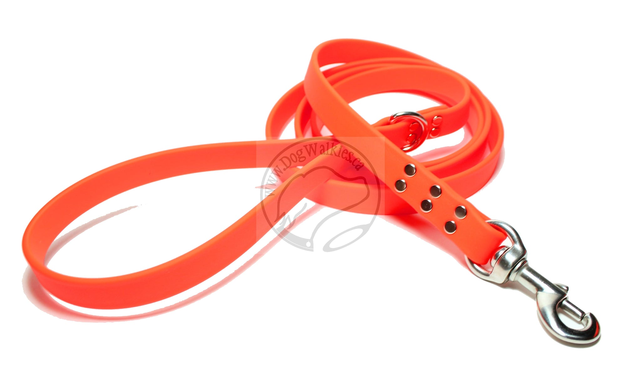 Neon Blaze Orange Biothane Large Dog Leash