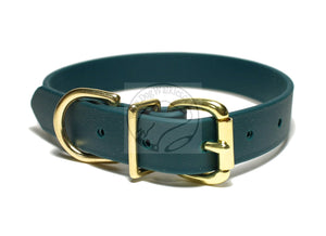 Pine Green Biothane Dog Collar - 1 inch (25mm) wide