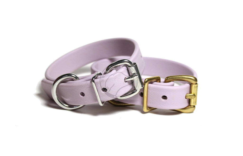 "Pastel Purple Biothane Dog Collar - 3/4"" (19mm) wide"