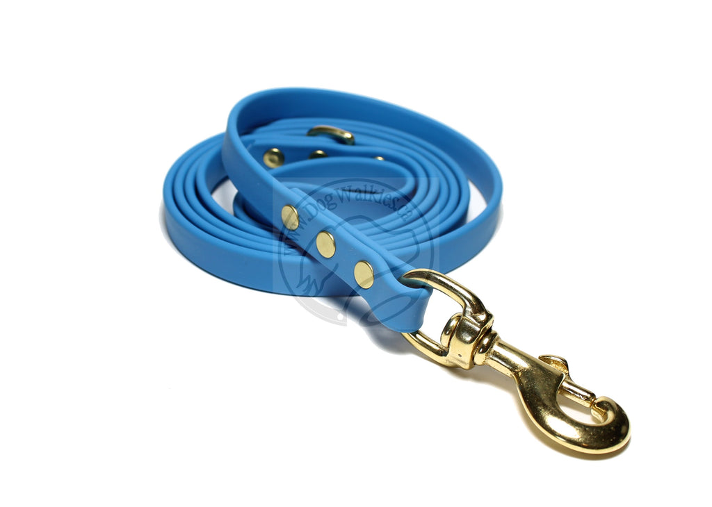 Caribbean Blue Biothane Dog Leash