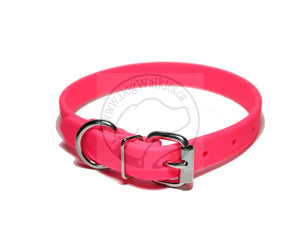 "Neon Pink Biothane Dog Collar - 3/4"" (19mm) wide"