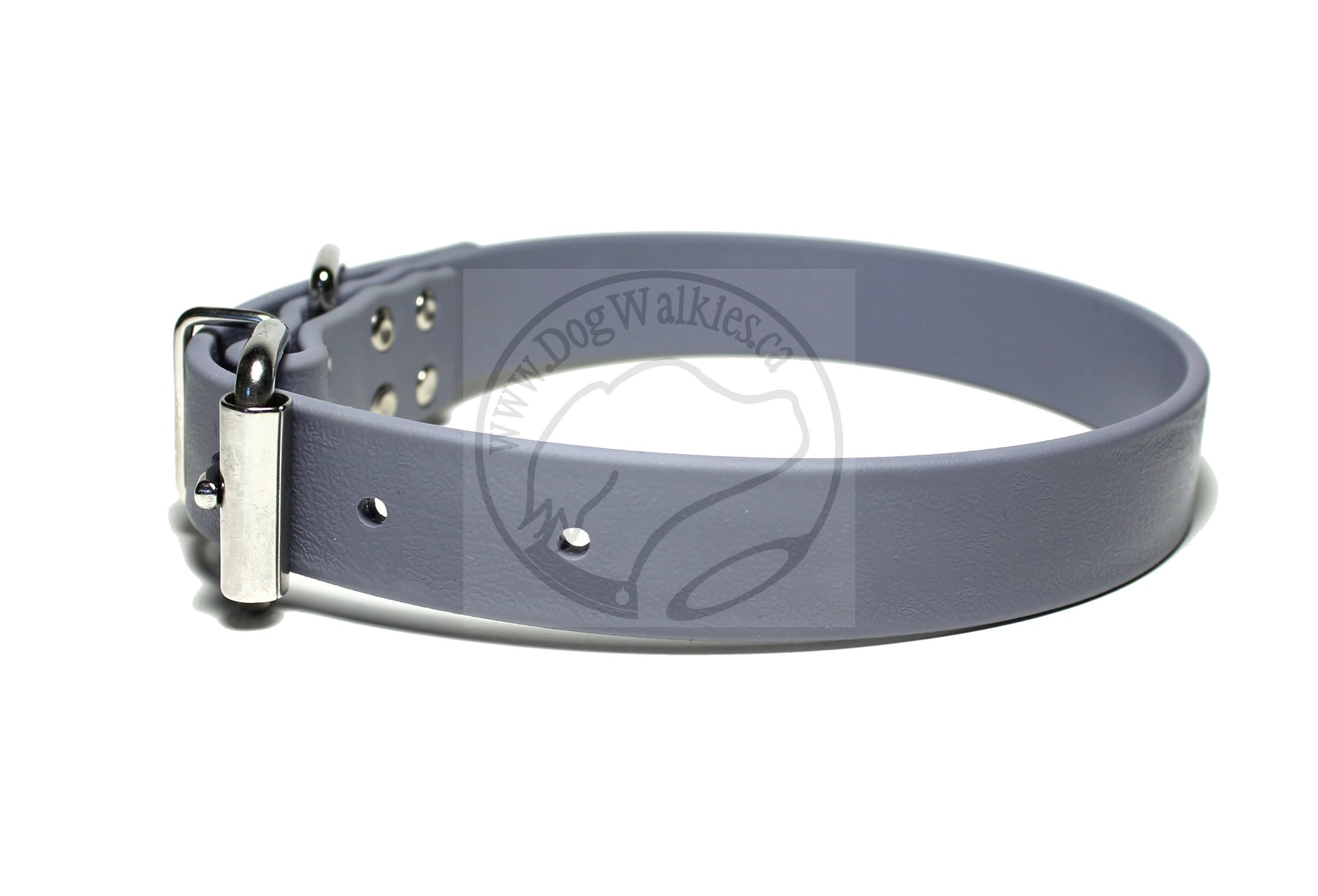 Stormy Grey Biothane Dog Collar - 1 inch (25mm) wide