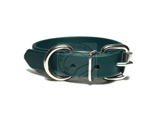"Pine Green Biothane Dog Collar - 3/4"" (19mm) wide"