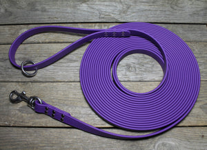 Extra Heavy Weight Waterproof Tracking Recall Long Line - leash for extra large to large dogs