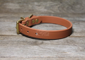 "Caramel Brown Biothane Dog Collar - 3/4"" (19mm) wide"