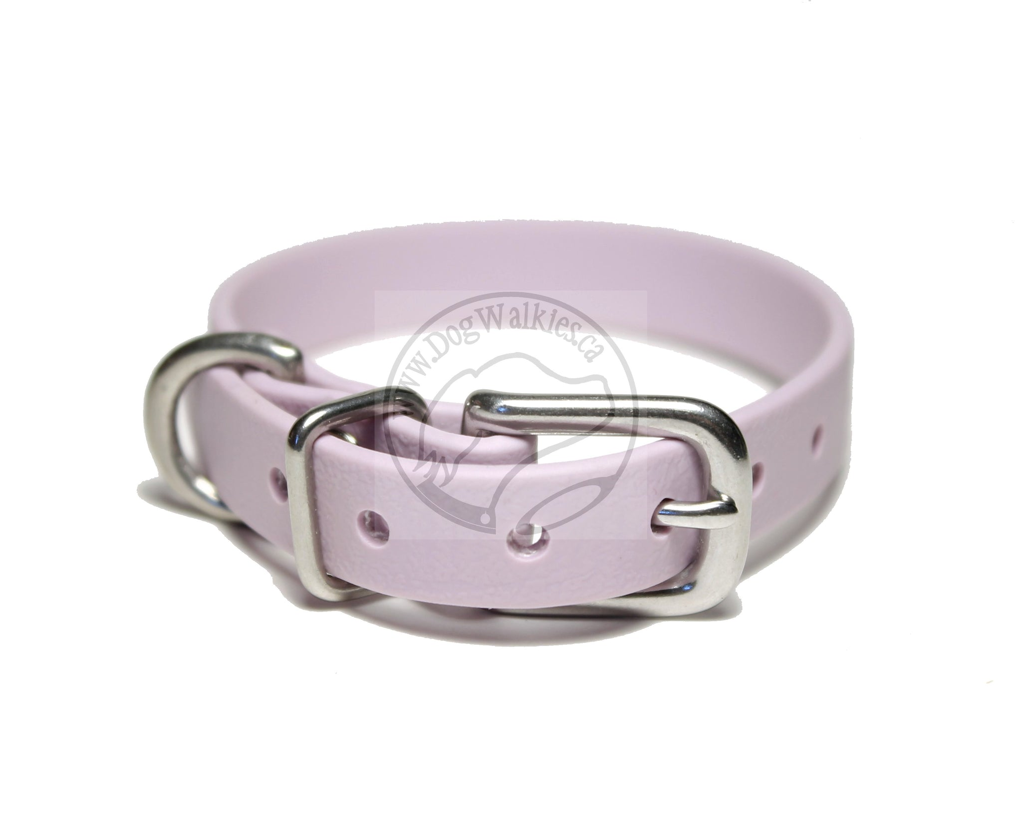 "Pastel Purple Biothane Small Dog Collar - 1/2"" (12mm) wide"