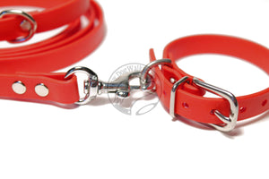 "Poppy Red Biothane Small Dog Collar - 1/2"" (12mm) wide"