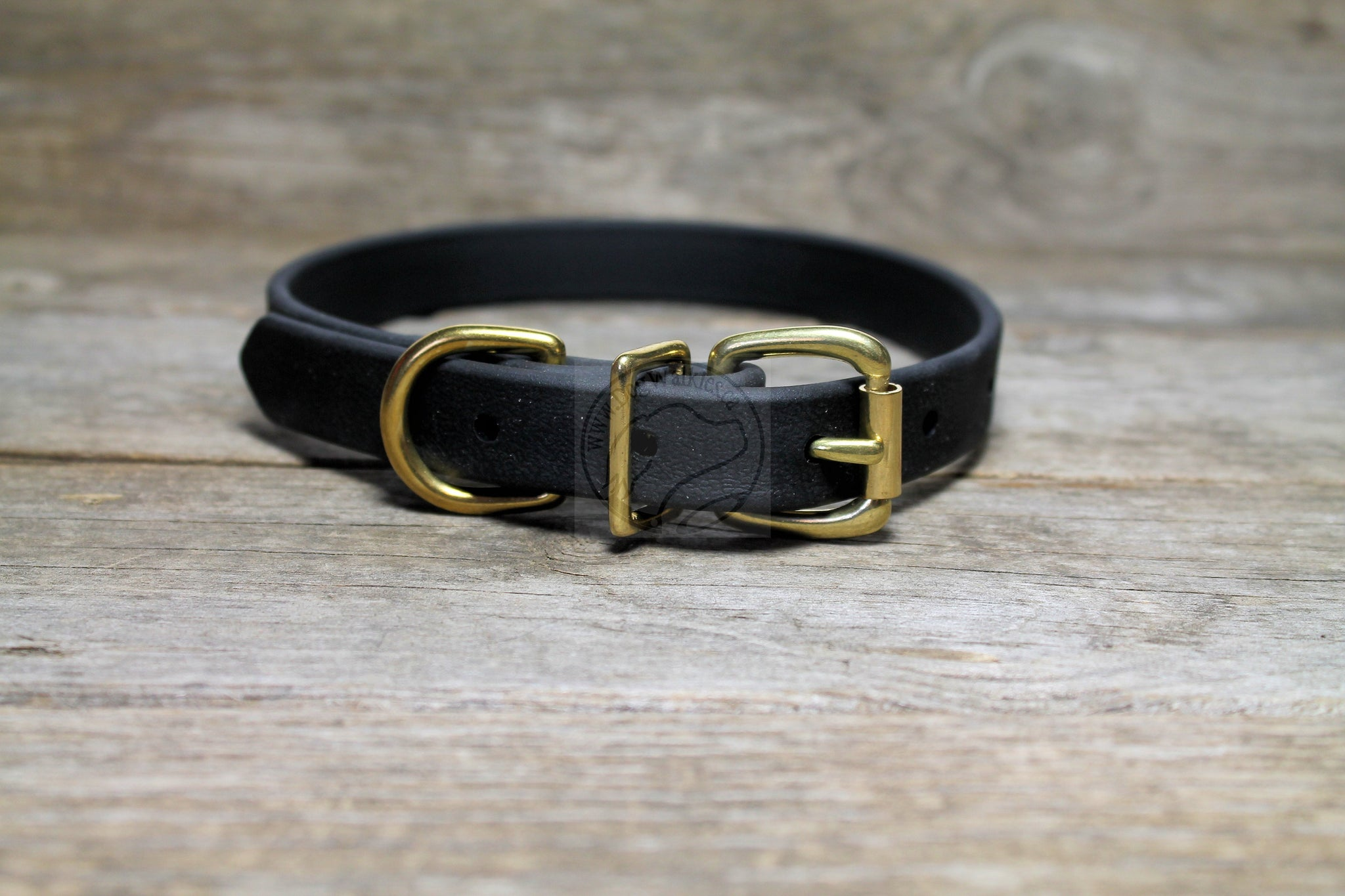 "Jet Black Biothane Dog Collar - 3/4"" (19mm) wide"