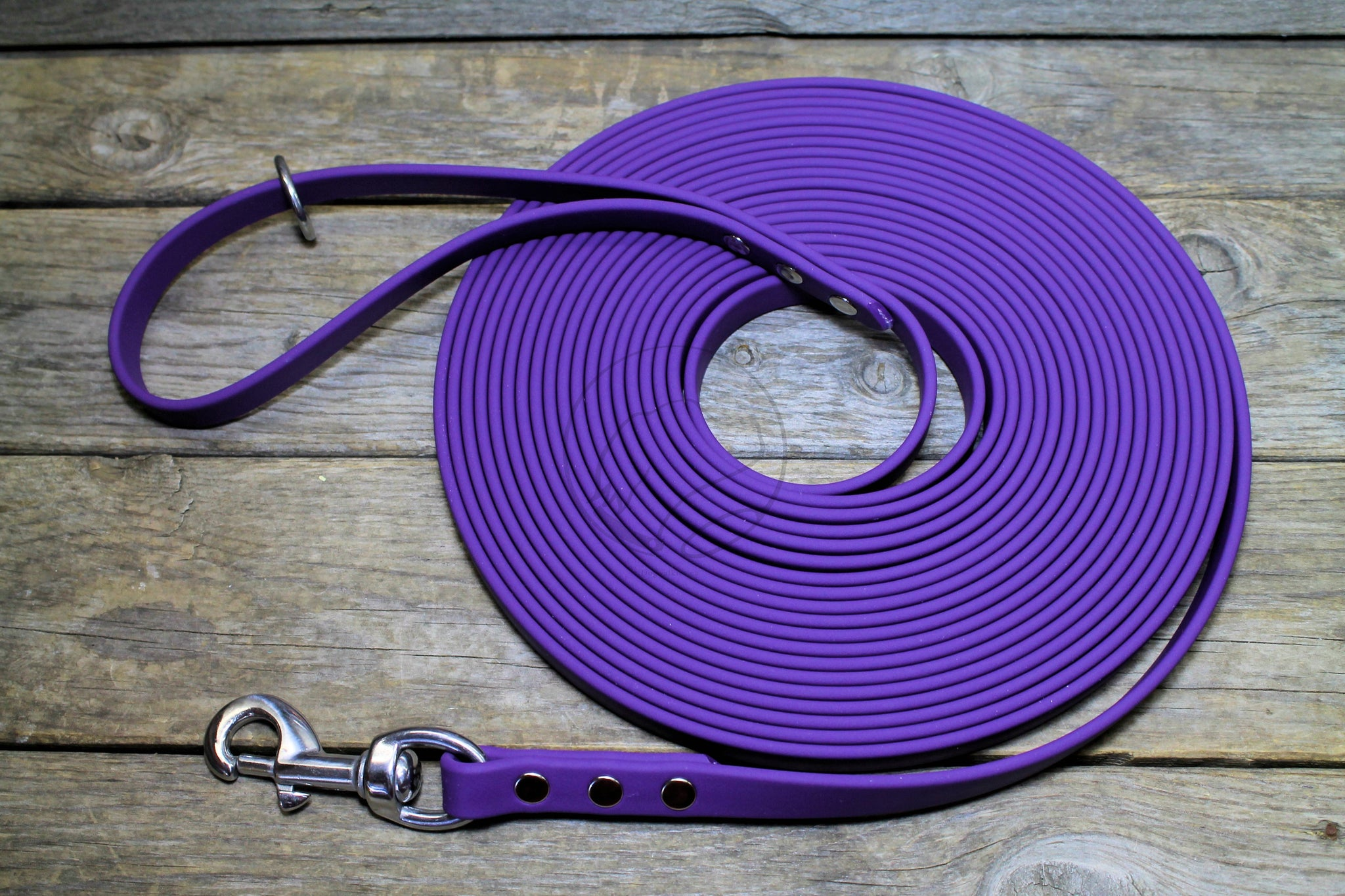 "Stronger Weight Biothane 5/8"" (16mm) Tracking Recall Long Line - waterproof leash for large dogs or stronger pullers"