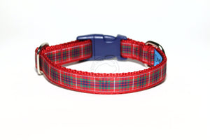 Fraser clan tartan - dog collar