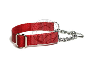 "Chain Martingale Dog Collar 3/4"" (19mm) wide; Simple - Elegant - Strong"