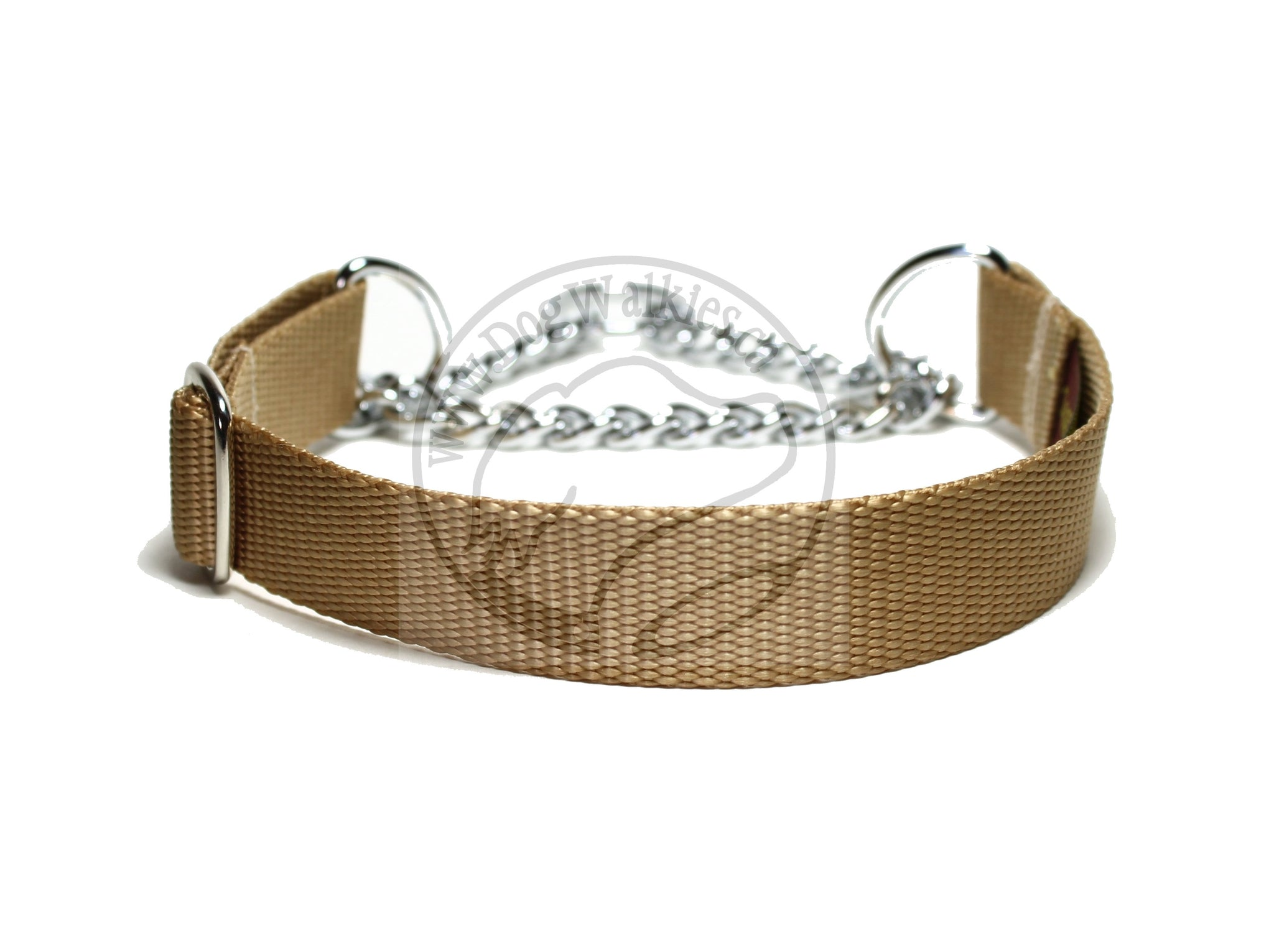 "Chain Martingale Dog Collar 1"" (25mm) wide; Simple - Elegant - Strong"