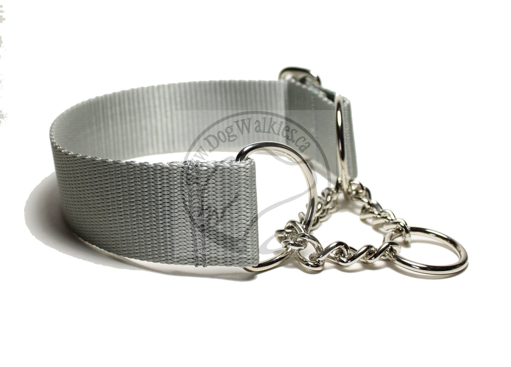 "Wide Chain Martingale Dog Collar 1.5"" (38mm); Simple - Elegant - Strong"