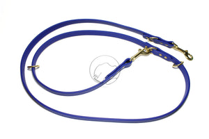 "Convertible Waterproof Leash in Genuine Biothane - 16mm (5/8"") width"