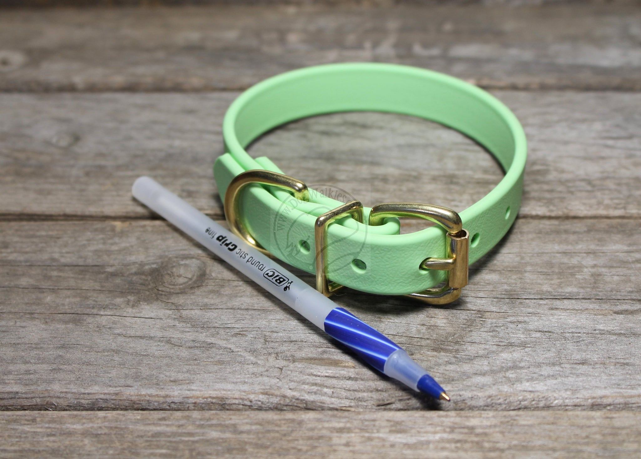 "Pastel Mint Green Biothane Dog Collar - 3/4"" (19mm) wide"
